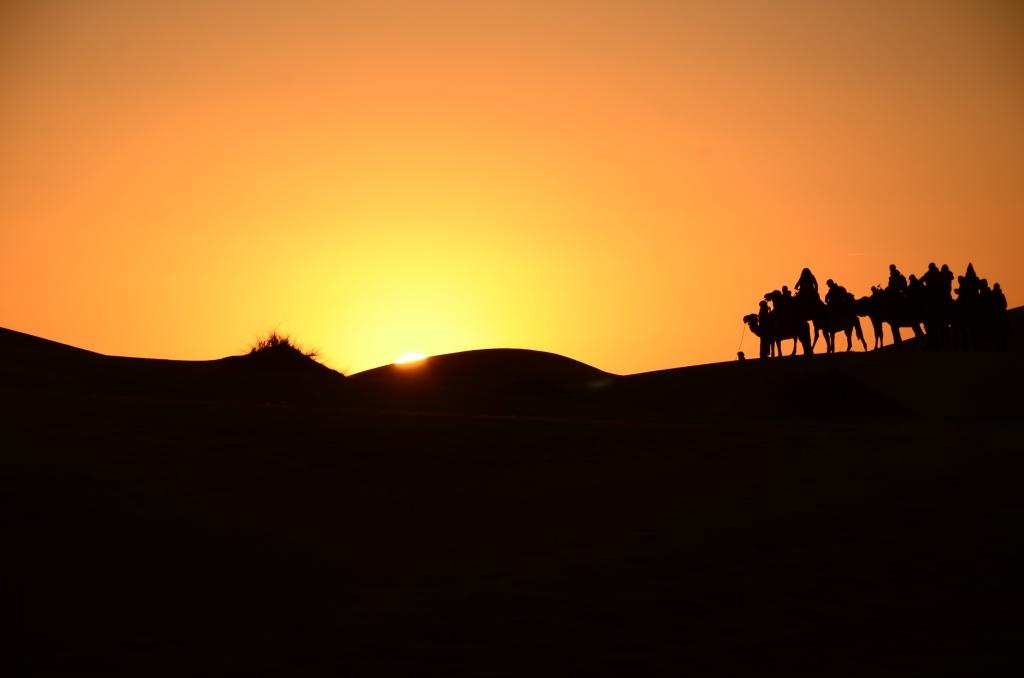Hoàng hôn ở Sahara