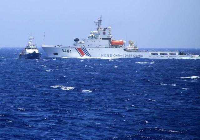 "A picture paints a thousand words. Apparently, China said Vietnamese ships rammed them ""171 times""."